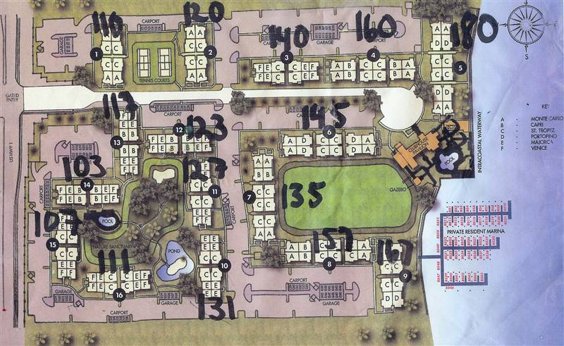 Site Plan Yacht Club on The Intracoastal Waterways